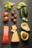 Χαμηλά προϊόντα εξαερωτήρων για την κετονογενετική διατροφή στοκ εικόνες