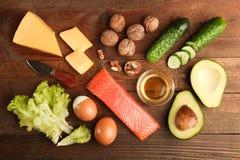 Χαμηλά προϊόντα εξαερωτήρων για την κετονογενετική διατροφή στοκ εικόνα με δικαίωμα ελεύθερης χρήσης
