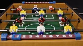 Χαμηλή δράση επιτραπέζιου ποδοσφαίρου απόθεμα βίντεο