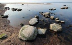 χαμηλή παλίρροια ακτών Στοκ Εικόνες