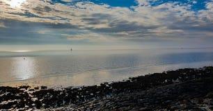 Χαμηλή παλίρροια σε Βόρεια Θάλασσα στοκ εικόνα