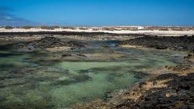 Χαμηλή παλίρροια στον όρμο Στοκ Φωτογραφίες