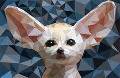 Χαμηλή πολυ διανυσματική απεικόνιση Fennec αλεπούδων Στοκ Φωτογραφία