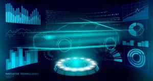 Χαμηλή πολυ τεχνολογία διαγνωστικών αυτοματοποίησης αυτοκινήτων Βιομηχανικός στοιχείων analisys οξυγονοκολλητής μηχανών επιχειρησ διανυσματική απεικόνιση