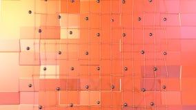 Χαμηλή πολυ τρισδιάστατη επιφάνεια με το πλέγμα ή το πλέγμα πετάγματος και μαύρες σφαίρες ως ζωντανεψοντα περιβάλλον Μαλακός γεωμ διανυσματική απεικόνιση