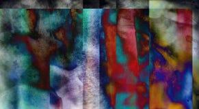 Χαμηλωμένη αφηρημένη σύνθεση χρώματος διανυσματική απεικόνιση