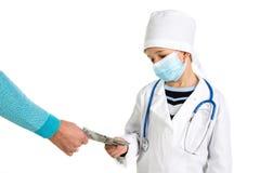 Χαμηλός μισθός γιατρών ` s στοκ φωτογραφία με δικαίωμα ελεύθερης χρήσης