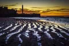 Χαμηλός φάρος Λα Caleta παλίρροιας Στοκ φωτογραφία με δικαίωμα ελεύθερης χρήσης
