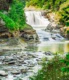 Χαμηλότερες πτώσεις νερού, κρατικό πάρκο Letchworth, Νέα Υόρκη Στοκ Φωτογραφία