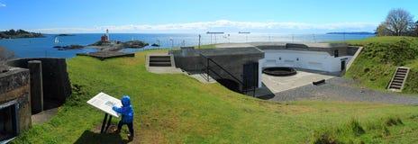 Χαμηλότερη μπαταρία, εθνική ιστορική περιοχή Hill Rodd οχυρών στοκ εικόνα με δικαίωμα ελεύθερης χρήσης