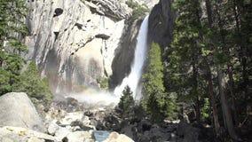 Χαμηλότερη πτώση Yosemite στο διάσημο Yosemite απόθεμα βίντεο
