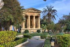 Χαμηλότερος δημόσιος κήπος Barrakka σε Valletta στοκ εικόνες