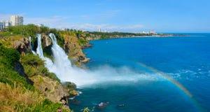 Χαμηλότερος καταρράκτης Duden, Antalya Περιοχή της Lara r στοκ φωτογραφία με δικαίωμα ελεύθερης χρήσης