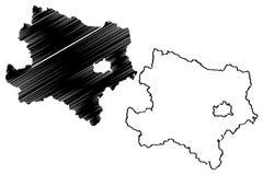 Χαμηλότερο διάνυσμα χαρτών της Αυστρίας Στοκ Φωτογραφία