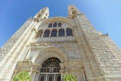 Χαμηλότερο Galilee, Ισραήλ - 18 Φεβρουαρίου 2017 Ο προσκυνητής φωτογράφισε το ορθόδοξο μοναστήρι της μεταμόρφωσης Στοκ φωτογραφίες με δικαίωμα ελεύθερης χρήσης