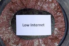 Χαμηλό Διαδίκτυο Ένα κακό σύμβολο Διαδικτύου Χαμηλός μεταφορτώστε την ταχύτητα Διαδίκτυο αργό Ο συνηθισμένος ποταμός των συγκρατη Στοκ εικόνες με δικαίωμα ελεύθερης χρήσης