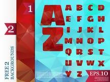Χαμηλό πολυ αλφάβητο στην έννοια και τα υπόβαθρα πολυγώνων Στοκ εικόνα με δικαίωμα ελεύθερης χρήσης