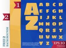 Χαμηλό πολυ αλφάβητο στο διάνυσμα έννοιας πολυγώνων και το tria υποβάθρων Στοκ Εικόνες
