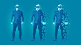 Χαμηλό πολυ σχέδιο προστατευτικών διόπτρων εικονικής πραγματικότητας Στοκ εικόνες με δικαίωμα ελεύθερης χρήσης