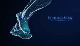 Χαμηλό πολυ τρέχοντας άτομο απεικόνιση αποθεμάτων