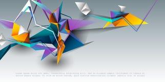 Χαμηλό πολυ, polygonal σχέδιο απεικόνισης με το άσπρο γκρίζο υπόβαθρο χρώματος στοκ φωτογραφίες με δικαίωμα ελεύθερης χρήσης