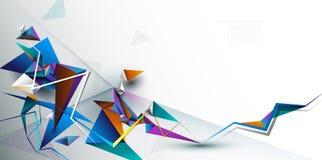 Χαμηλό πολυ, polygonal σχέδιο απεικόνισης με το άσπρο γκρίζο υπόβαθρο χρώματος στοκ εικόνες