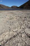 χαμηλό ύδωρ επιπέδων λιμνών Στοκ Φωτογραφία