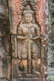 Χαμηλή ανακούφιση που χαράζει το TA Prohm Angkor Wat Καμπότζη Στοκ Φωτογραφίες
