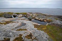 χαμηλή παλίρροια επίδρασης Στοκ Φωτογραφίες