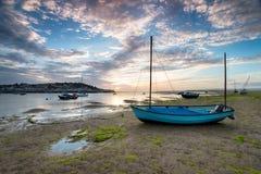 Χαμηλή παλίρροια σε Instow στο Βορρά Devon Στοκ Φωτογραφίες
