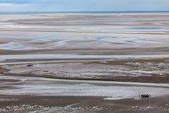 Χαμηλή παλίρροια σε Mont ST-Michel Στοκ Φωτογραφίες