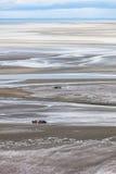 Χαμηλή παλίρροια σε Mont ST-Michel Στοκ εικόνα με δικαίωμα ελεύθερης χρήσης