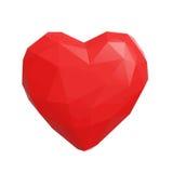 Χαμηλή πολυ καρδιά Στοκ Εικόνες