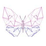 Χαμηλή πολυ πεταλούδα γραμμών Στοκ Εικόνες