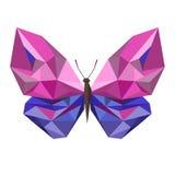Χαμηλή πολυ πεταλούδα Στοκ Εικόνα