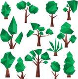 Χαμηλή πολυ τέχνη συνδετήρων δέντρων Στοκ Εικόνες