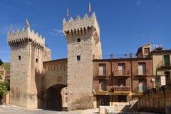 Χαμηλή πόρτα baja Puerta στη μεσαιωνική πόλη Daroca, Σαραγόσα prov Στοκ φωτογραφίες με δικαίωμα ελεύθερης χρήσης