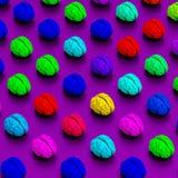 Χαμηλοί πολυ εγκέφαλοι που δίνονται το σχέδιο απεικόνισης Στοκ Εικόνα