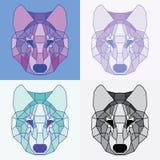 Χαμηλοί πολυ ευθυγραμμισμένοι λύκοι καθορισμένοι Στοκ Εικόνα