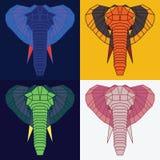 Χαμηλοί πολυ ελέφαντες καθορισμένοι Στοκ φωτογραφία με δικαίωμα ελεύθερης χρήσης