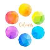 Χαμηλοί πολυ κύκλοι με τα διαφορετικά χρώματα Στοκ φωτογραφία με δικαίωμα ελεύθερης χρήσης
