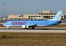 Χαμηλού κόστους επιβατηγό αεροσκάφος πειρατών Στοκ εικόνα με δικαίωμα ελεύθερης χρήσης