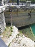 Χαμηλός δείκτης νερού leve Στοκ Φωτογραφία