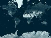 Χαμηλός πολυ διανυσματικός παγκόσμιος χάρτης ελεύθερη απεικόνιση δικαιώματος