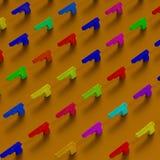 Χαμηλός-πολυ σχέδιο απεικόνισης πλαισίου όπλων Στοκ φωτογραφία με δικαίωμα ελεύθερης χρήσης