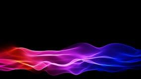 Χαμηλότερο αφηρημένο κυματίζοντας πολύχρωμο υπόβαθρο τρίτων διανυσματική απεικόνιση