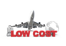 Χαμηλότερο κόστος και αεροπλάνο Στοκ εικόνα με δικαίωμα ελεύθερης χρήσης
