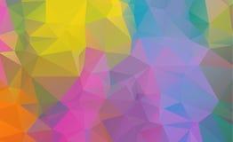Χαμηλό πολυ γεωμετρικό υπόβαθρο που αποτελείται από τα τρίγωνα Στοκ Φωτογραφία