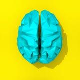 Χαμηλό πολυ μπλε σχέδιο εγκεφάλου Στοκ Εικόνες