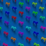 Χαμηλό πολυ σχέδιο απεικόνισης σκυλιών Στοκ φωτογραφία με δικαίωμα ελεύθερης χρήσης